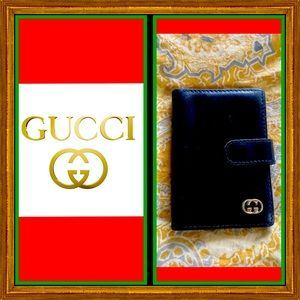 Auth Vintage GUCCI Card & Photo Holder.
